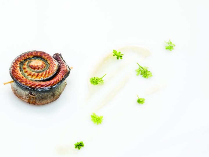 Grilled and Smoked Eel_Black Marinated Daikon_Cren